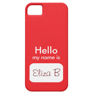 Hello my name is Red Phone Case