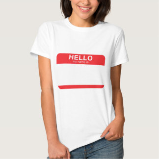 Hello My Name Is - Red T-shirts