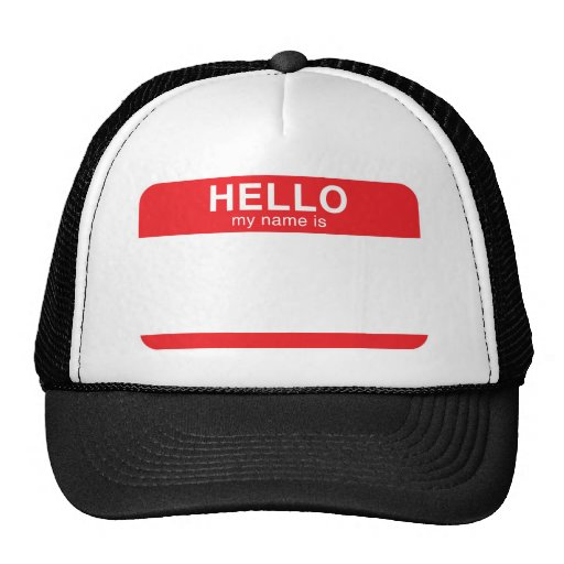 Hello My Name Is - Red Trucker Hat