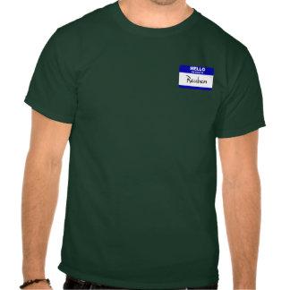 Hello My Name Is Reuben (Blue) Tshirts