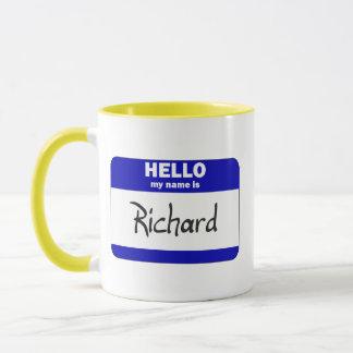 Hello My Name Is Richard (Blue) Mug