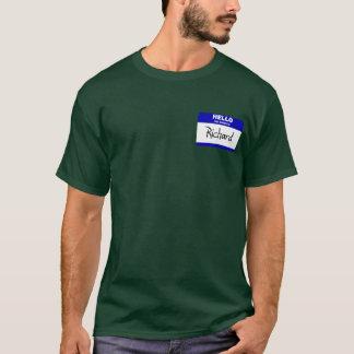 Hello My Name Is Richard (Blue) T-Shirt