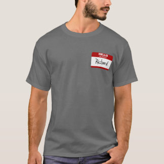 Hello My Name Is Richard (Red) T-Shirt