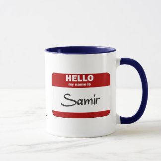 Hello My Name Is Samir (Red) Mug