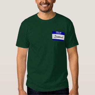 Hello My Name Is Samuel (Blue) T-shirt