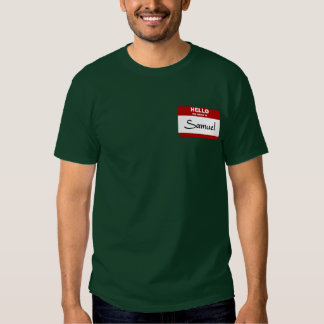 Hello My Name Is Samuel (Red) T Shirt