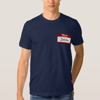 Hello My Name Is Sheila (Red) T-shirt