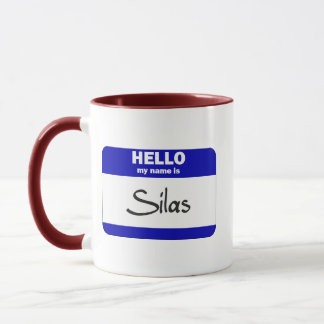 Hello My Name Is Silas (Blue) Mug