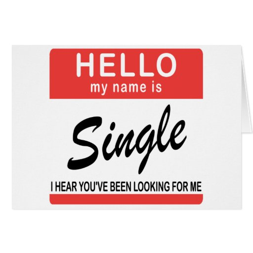 Hello My Name Is Single Card