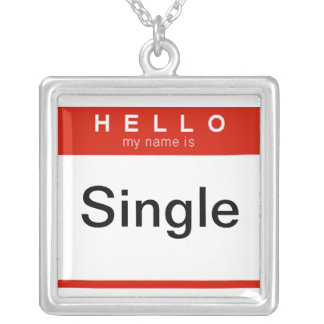 Hello my name is Single Square Pendant Necklace