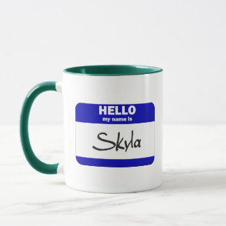Hello My Name Is Skyla (Blue) Mug