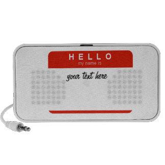 Hello my name is speaker