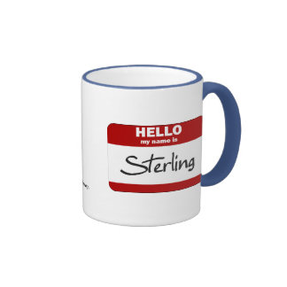 Hello My Name Is Sterling (Red) Ringer Mug
