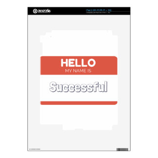 Hello my name is successful decals for the iPad 2