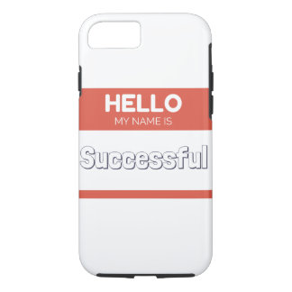 Hello my name is successful red iPhone 7 case