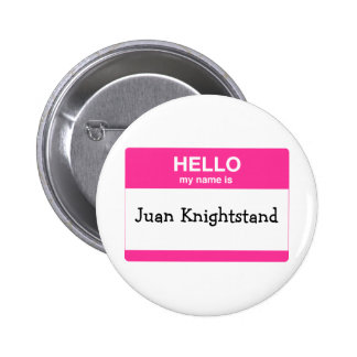 Hello, My Name is Tag Pinback Button