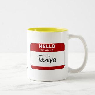 Hello My Name Is Taniya (Red) Mug