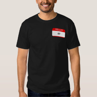Hello My Name is TEMPLATE (RED) Tshirt