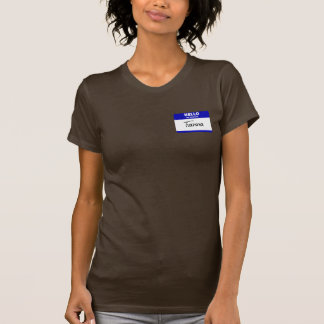 Hello My Name Is Tianna (Blue) T-shirt