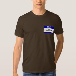 Hello My Name Is Victoria (Blue) Tee Shirt