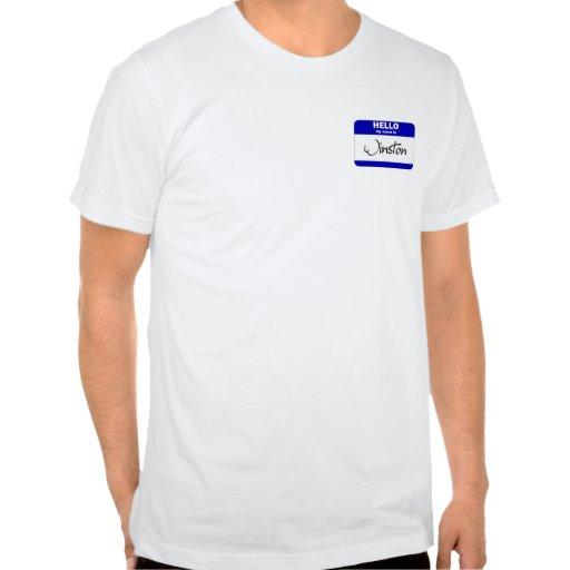 Hello My Name Is Winston (Blue) Tshirts