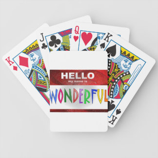 Hello My Name is Wonderful Bicycle Playing Cards