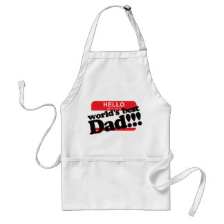 Hello My Name Is World's Best Dad Adult Apron
