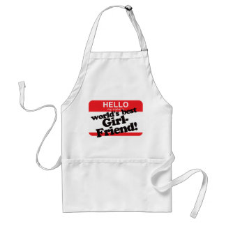 Hello My Name Is World's Best Girlfriend Adult Apron