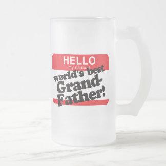 Hello My Name Is World's Best Grandfather Coffee Mug