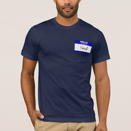 Hello My Name Is Yusuf (Blue) T-Shirt