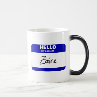 Hello My Name Is Zaire (Blue) Coffee Mugs