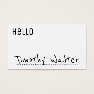 Hello | Name Card