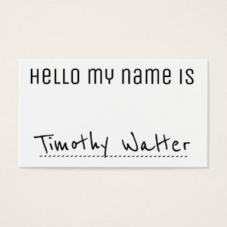 Hello | Name Card 2