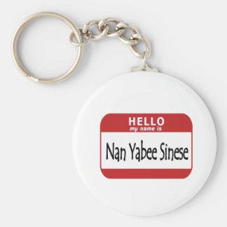 Hello Name is Nan Yabee Sinese Keychain