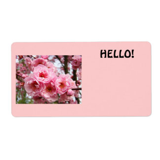 HELLO name tags custom Business Conferences Floral Shipping Label