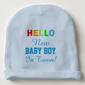 Hello New Baby Girl in Town Baby Hat