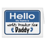Hello New Daddy Card