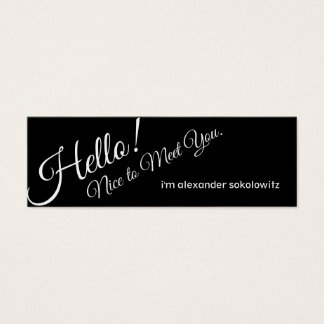 Hello! Nice to Meet You! Profile Business Card