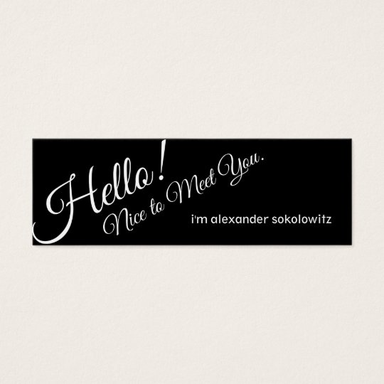 Hello nice to meet you profile business card zazzle nice to meet you profile business card colourmoves