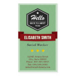 Hello Nice to Meet You - Vintage Retro Stylish Business Cards
