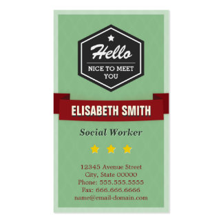 Hello Nice to Meet You - Vintage Retro Stylish Double-Sided Standard Business Cards (Pack Of 100)