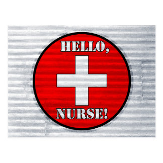 Hello, Nurse! Postcard