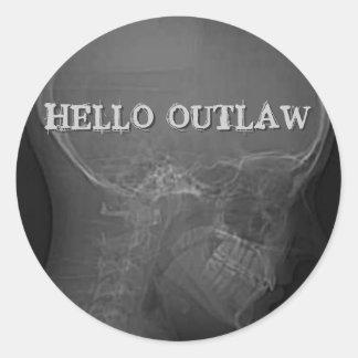 Hello Outlaw Classic Round Sticker