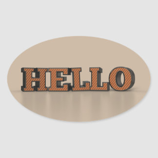 Hello Oval Sticker