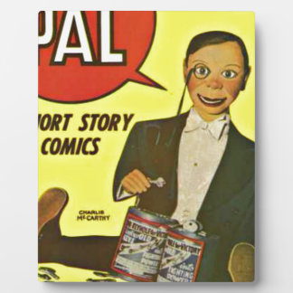 Hello Pal #2 Charlie McCarthy Cover Art Plaque