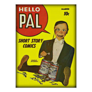 Hello Pal #2 Charlie McCarthy Cover Art Poster