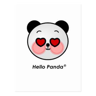 Hello Panda heart eyes Postcard