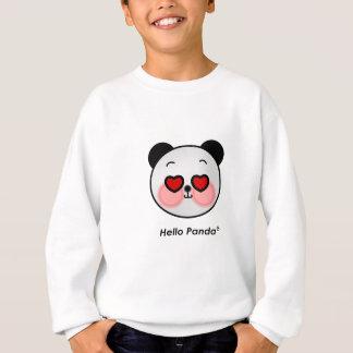Hello Panda heart eyes Sweatshirt