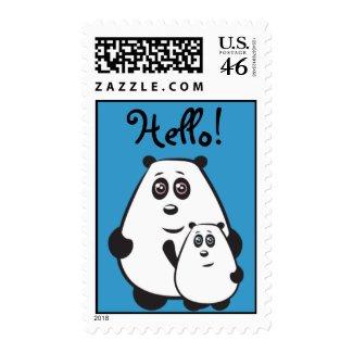 Hello Pandas Stamps