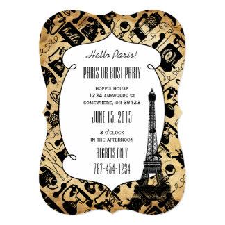Hello Paris - Paris or Bust Party Invitations